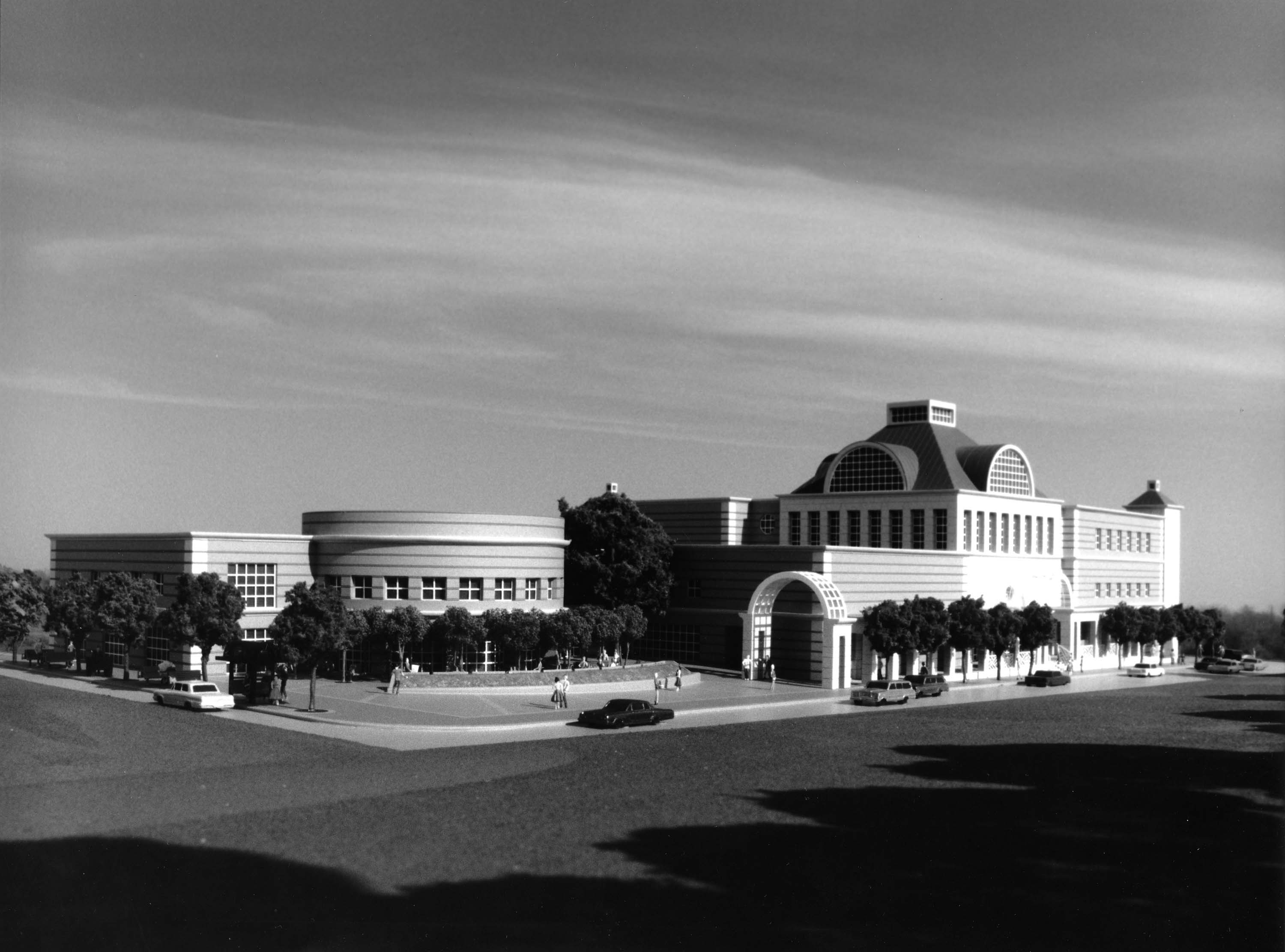 Proposed exterior view of new building