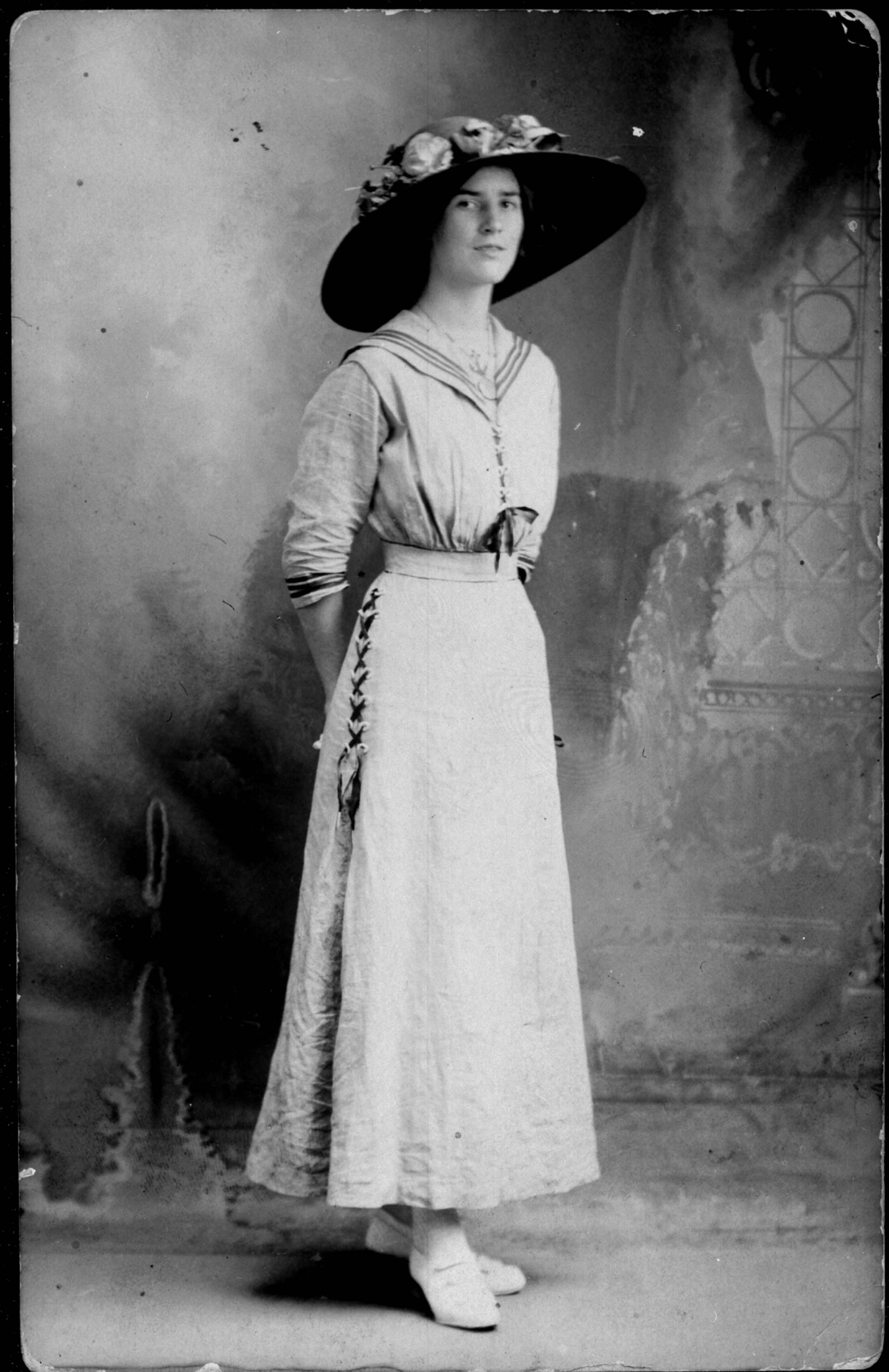 Lena Hughs Paxton lived in the North Davidson area. This photograph was taken around 1910.