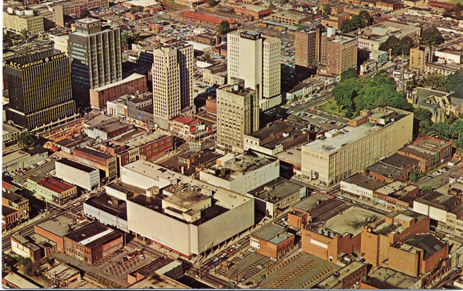 Aerial View of Uptown, 1966