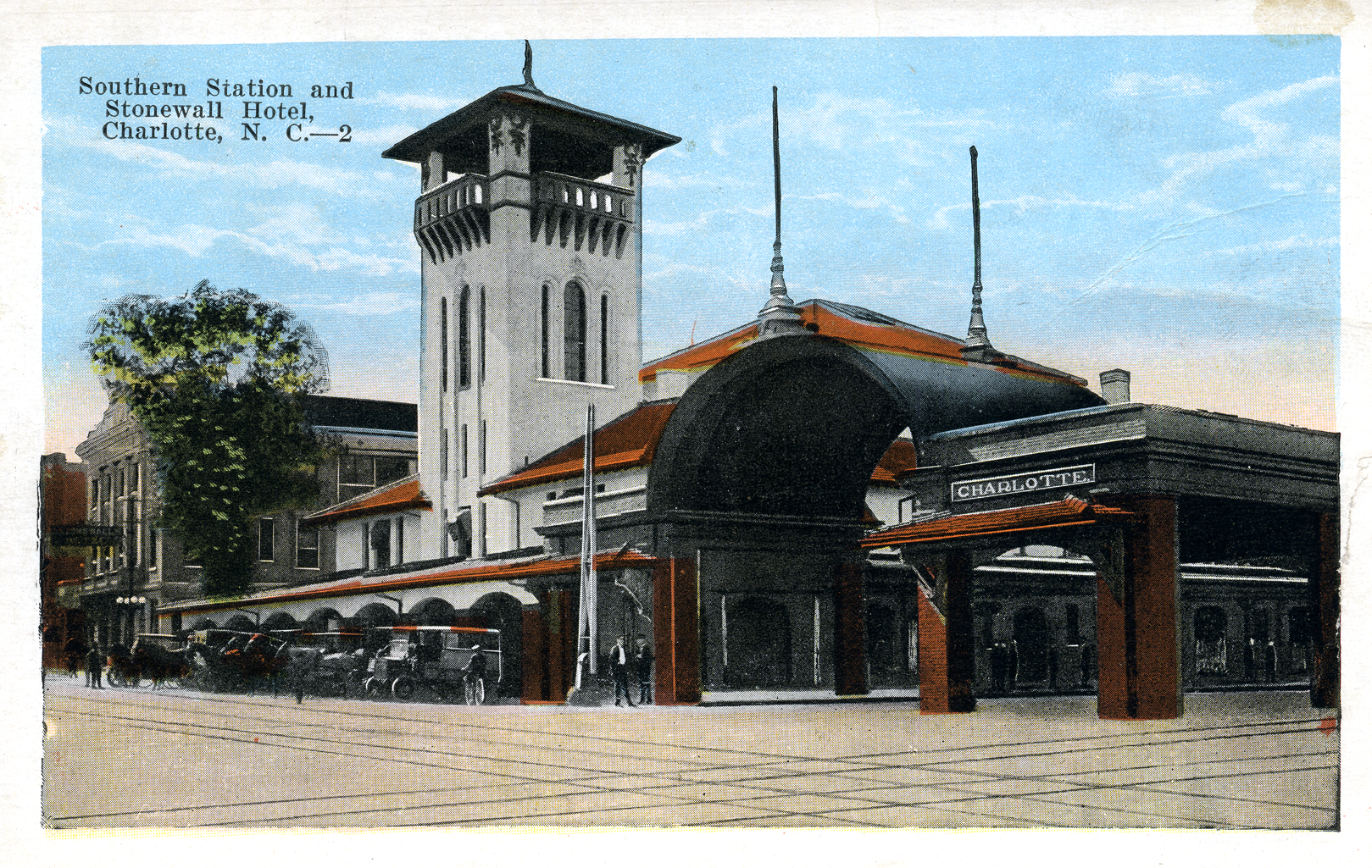 Southern Railroad Station And Stonewall Hotel Charlotte