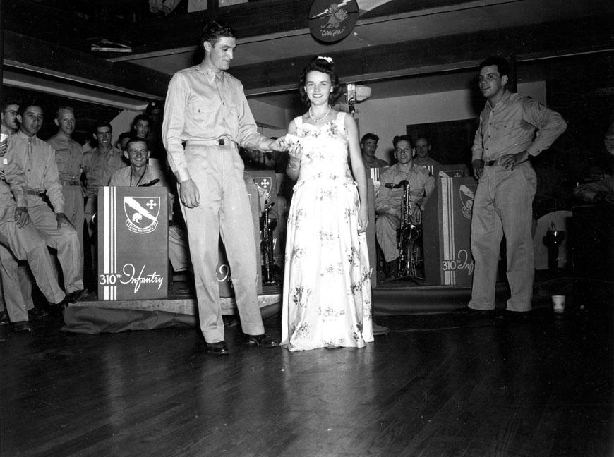 """Dance of 310th Infantry, 78th Div., Camp Butner, N.C."""