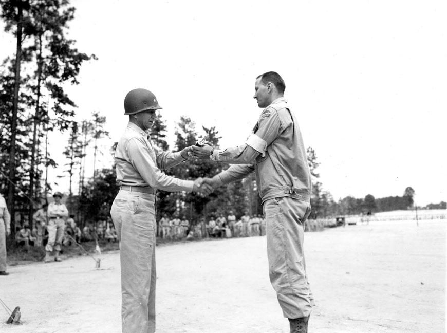 """""""Presentation of winner at field meet - 78th Div 8/14/43, Camp Butner, N.C."""""""