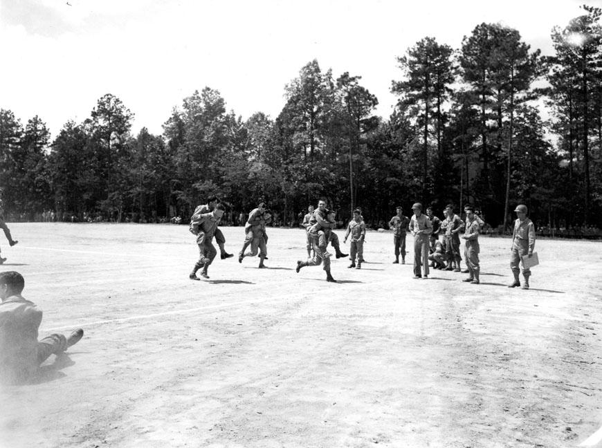 """Track meet - 8/14/1943, 78th div - Camp Butner, N.C."""