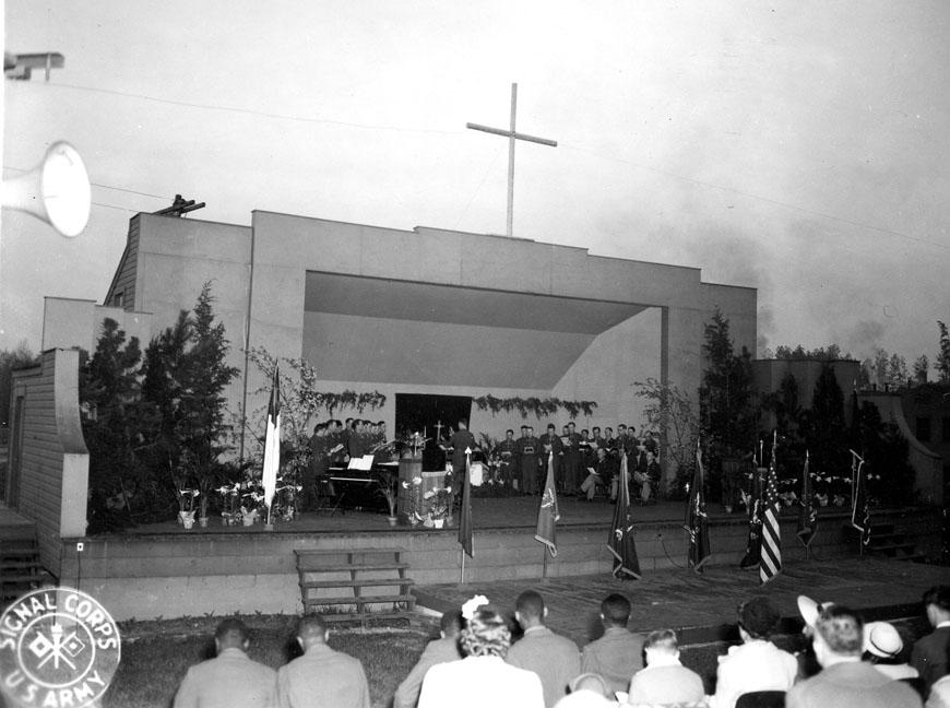 """Sunrise Service, Camp Butner, N.C., 4/9/44"""