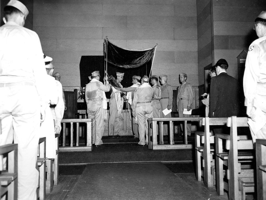 """Jewish Ceremony, Camp Butner, N.C."""