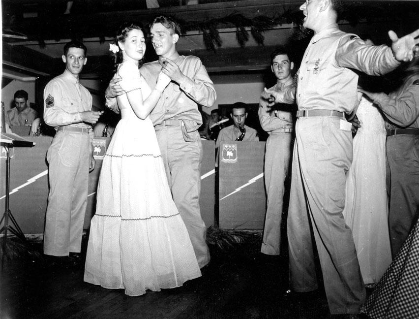"""""""Dance at Service Club #2, Camp Butner, N.C."""""""