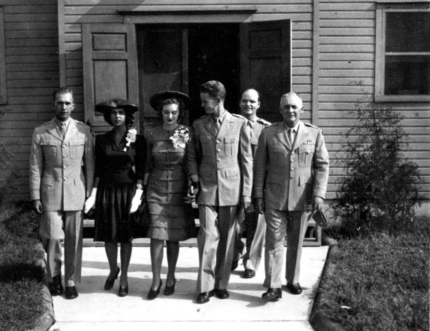 """Wedding Party - Camp Butner, N.C., Sept. 1943"""