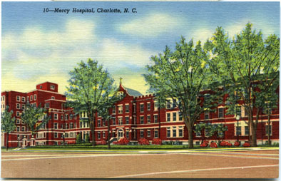 Mercy Hospital, Charlotte, North Carolina, Sisters of Mercy, Hospital, Catholic Hospital