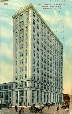 Commercial National Bank, color postcard