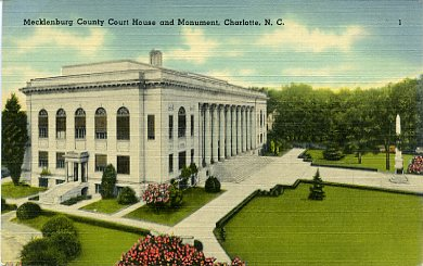 Fifth Mecklenburg County Courthouse, Monument