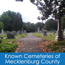 Known Cemeteries of Mecklenburg County