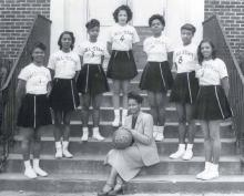 West Charlotte's All-Star Champion Basketball Team, 1950, with coach Minnie Alma Blake. MINNIE ALMA BLAKE.