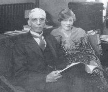 Dr. and Mrs. H. L. McCrorey in their home. Dr. McCrorey was president of Johnson C. Smith University from 1907 to 1947. PLCMC