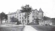 Carter Hall, Biddle University, c. 1904. From: Art Work of Charlotte, North Carolina, PLCMC.