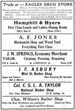 Advertisements for black-owned businesses, 1915. From: Colored Charlotte, courtesy of QUEENS COLLEGE LIBRARY.