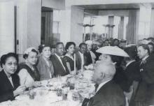 A Medical Auxiliary banquet to honor Charlotte's black doctors, 1945. MILDRED ALRIDGE.