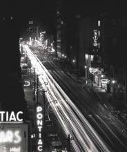 Traffic on Tryon St., 1957