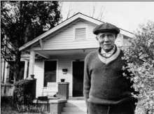 Sam Anderson outside his home