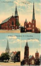 Churches of Charlotte circa 1900