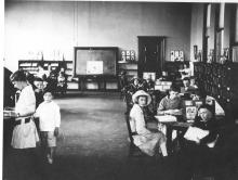 Pictured here in 1917, Children's Department annex and meeting room added with second gift from Carnegie Corporation.
