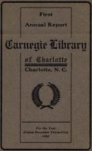1903 Carnegie Library Report