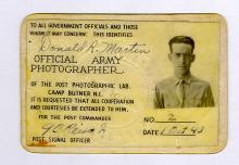 Don Martin, Official Army Photographer