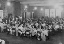 Commencement banquet, Johnson C. Smith University, c. 1930. FLORETTA DOUGLAS GUNN.
