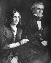 1849 daguerreotype of the President and First Lady