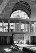 Main library under construction, 1988