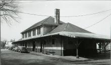 Seaboard Airline Railroad Station, view from alley, looking toward 4th St.