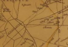 Detail from 1888 map shows Poor House and Poor House Road