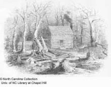 Early settler's log house