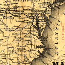 Map of Eastern United States