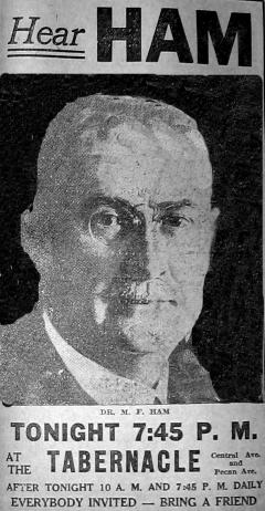 Mordecai Ham, Charlotte News, 8/30/1934
