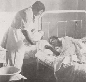 Nellie McKenzie was the first black public health nurse in Charlotte. From: Little Visits with the Charlotte Cooperative Nursing Association Highlights from the Report of 1927. PLCMC
