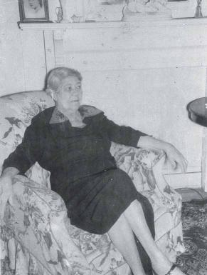 Sallie Phelps, librarian at the Brevard Street Library during the 1940s. ANITA BALDWIN.
