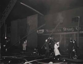 Southern Drug Company fire, February 10, 1961