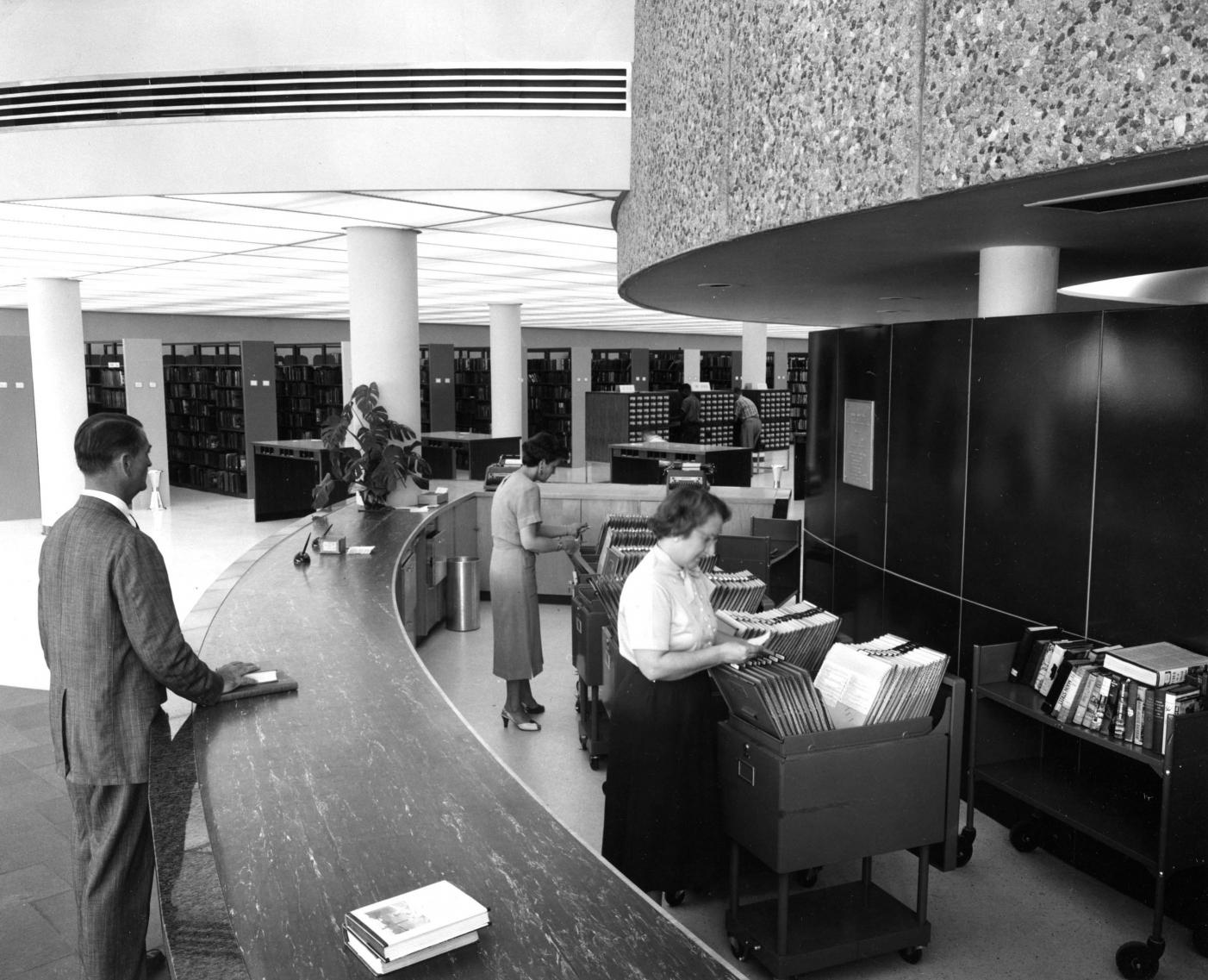 Views of the Main Library, 1956