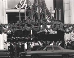 Ivey's uptown store decorated for Christmas, 1968