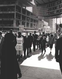Protests against segregated theater, 1961