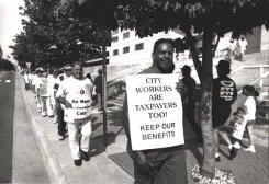 City workers protest