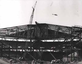 Coliseum for the NBA Hornets under construction