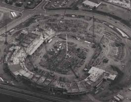 Stadium for NFL Panthers under construction