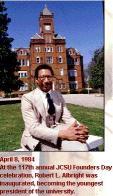 Robert Albright, president of Johnson C. Smith University, 1983-1994