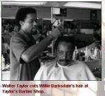 Walter Taylor, barber, Beatties Ford Road