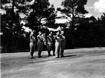 """Passing of flag, Camp Butner N.C."""