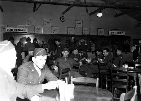 """Typical Scene in Main P.X., Camp Butner, N.C., June 1943"""