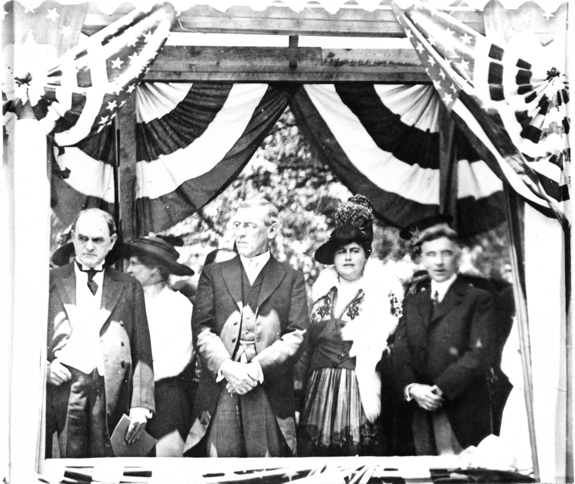 President and Mrs. Wilson visiting Charlotte
