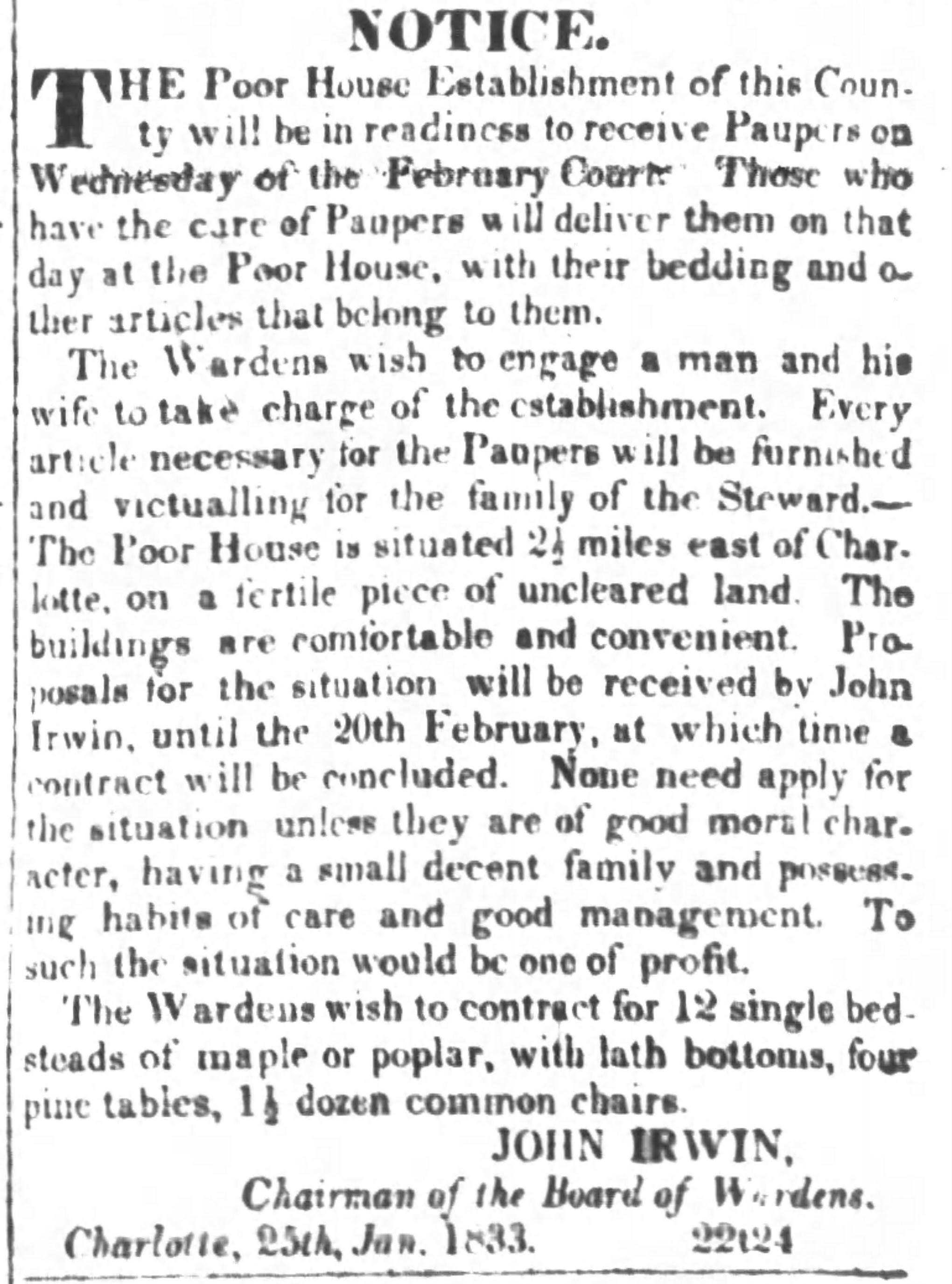 Miners' and Farmers' Journal, January 26, 1833, p.3