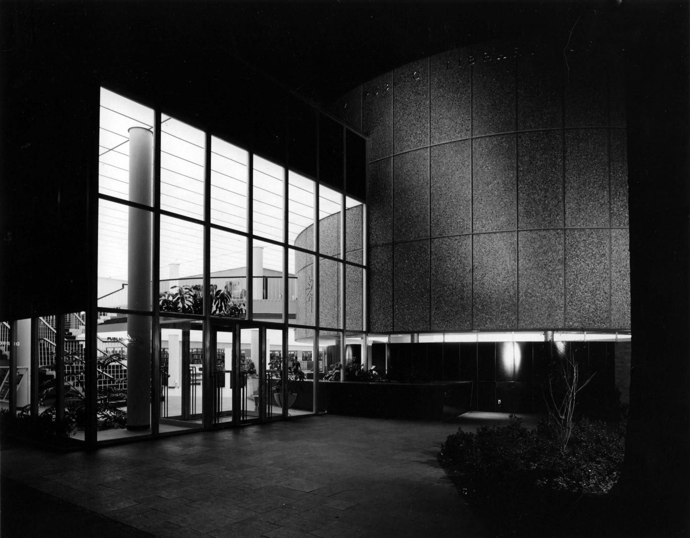 Entry Court, Main Library, 1956